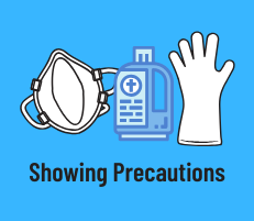 Showing Precautions